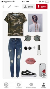 shirt,t-shirt,clothes,camouflage,jeans