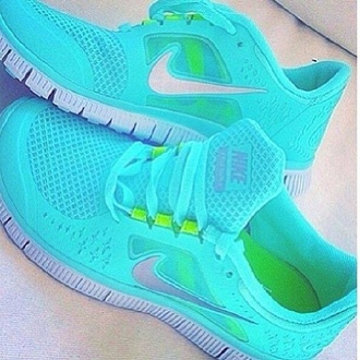 shoes nike turquoise nike teal bright tennis shoe running shoe