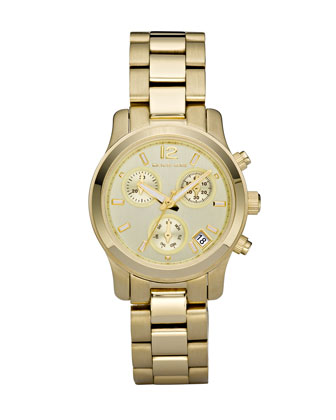 Michael Kors Round Watch, Golden - Michael Kors