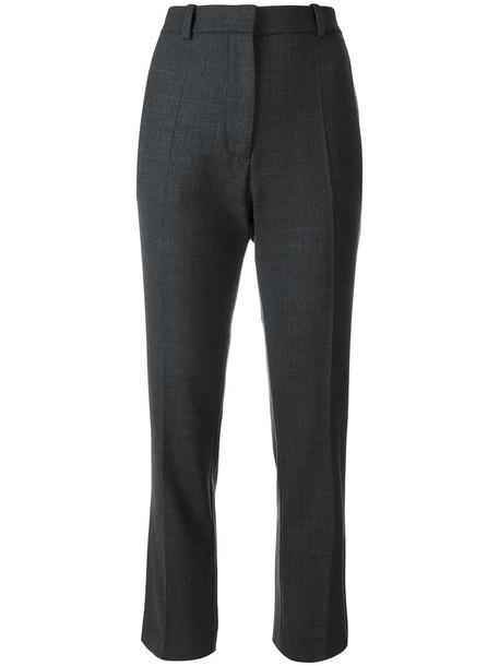 Joseph - stretch tapered trousers - women - Polyester/Spandex/Elastane/Wool - 44, Grey, Polyester/Spandex/Elastane/Wool
