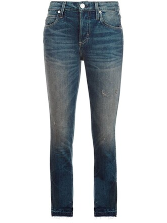 jeans skinny jeans cropped blue