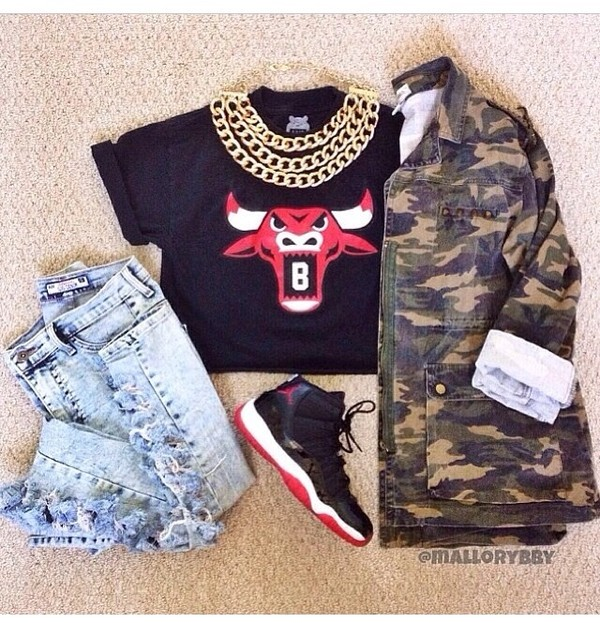 jacket camouflage long sleeves camouflage outerwear camo jacket shirt jeans jewels