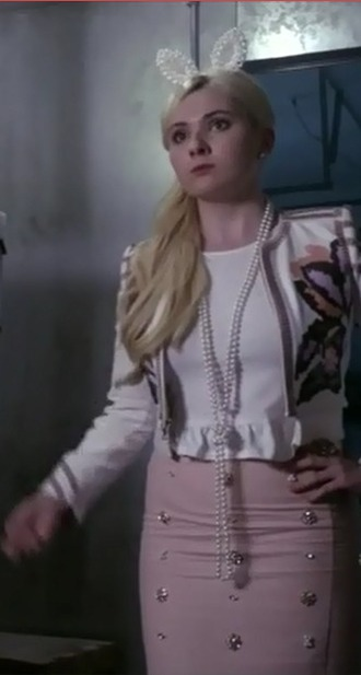 jacket abigail breslin scream queens bunny ears hair accessory