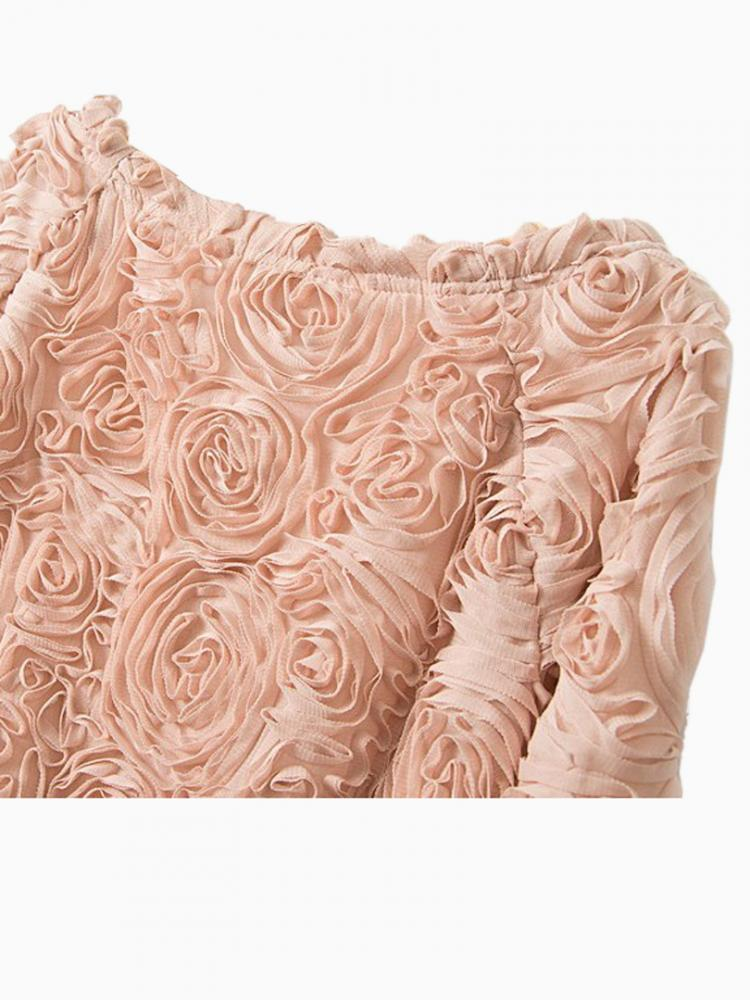 Pink 3D Rose Blouse | Choies