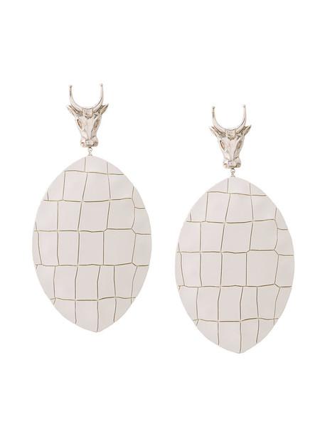 Lako Bukia X Natia Khutsishvili women leather white jewels