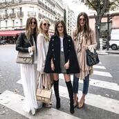 coat,tumblr,cape,black coat,skirt,mini skirt,grey skirt,denim,jeans,blue jeans,dress,maxi dress,white dress,jacket,black jacket,black leather jacket,leather jacket,bag,grey bag,designer bag,chloe,chloe bag,black bag,girl squad,friends,boots,black boots,over the knee boots,thigh high boots