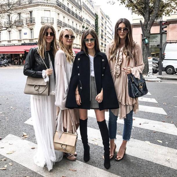 Maxi dress white ith coat