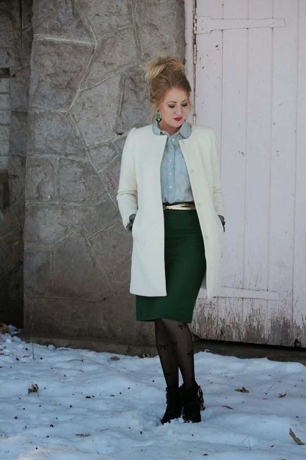 fashion flirtation skirt coat shoes jewels belt