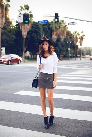 tsangtastic blogger t-shirt bag mini skirt hat