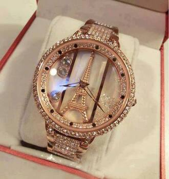 jewels watch jewelry french gold jewelry gold watch effie tower eiffel tower watch bag gold diamonds eiffel tower sparkle