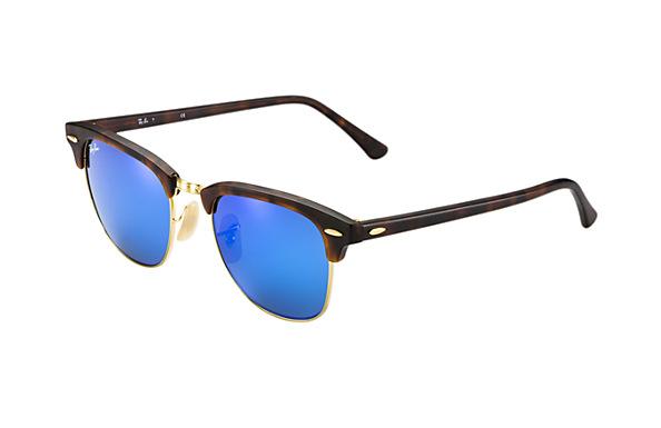 Ray-Ban RB3016 114517 49-21 Clubmaster Flash Lenses  Sunglasses | Ray-Ban USA