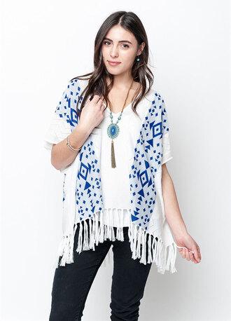 dress poncho poncho sweater poncho outwear fringed top fringe kimono