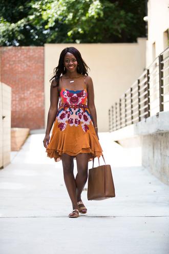 dress tumblr mini dress printed dress slip dress bag tote bag sandals flat sandals shoes