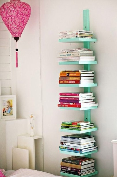 jewels bookshelf turquoise cute home decor home accessory floating bedroom bookshelf teal pastel shelves