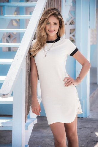 dress zipper on the sides mapalé white dress short