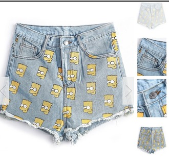 shorts the simpsons bart simpson cool rad grunge tumblr amazing blue jeans yellow