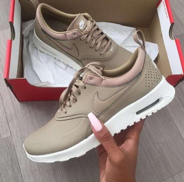 huge selection of 70b41 adb76 shoes nude women nikes nike low top sneakers air max nude sneakers nike air  max thea