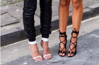shoes sandal heels white mid heel sandals
