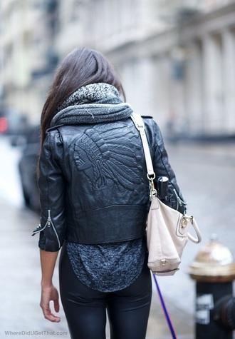 coat jacket leather black indian
