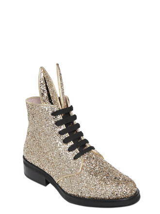 glitter boots glitter bunny boots gold shoes
