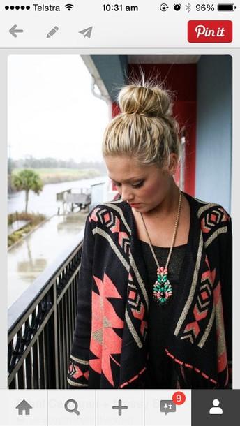 jacket cardigan aztec print sweater aztec sweater