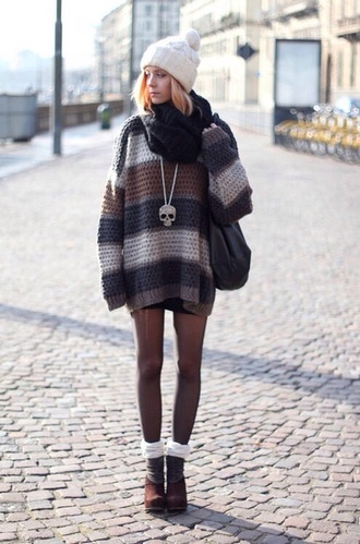 sweater tights knitted sweater beanie bag knitted scarf hat scarf sunglasses shoes underwear jewels