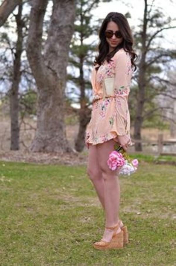 dress floral dress wrap dress summer dress floral romper
