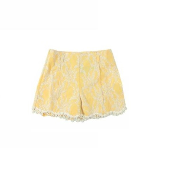 shorts lace yellow blogger