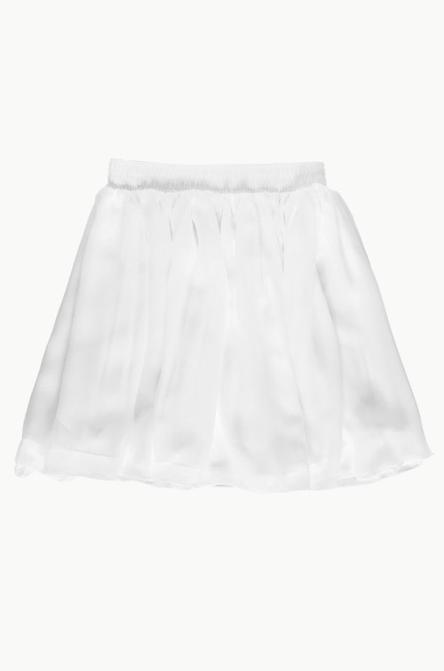 Chiffon Double Layered Skater Skirt (White) | THIS SEASON