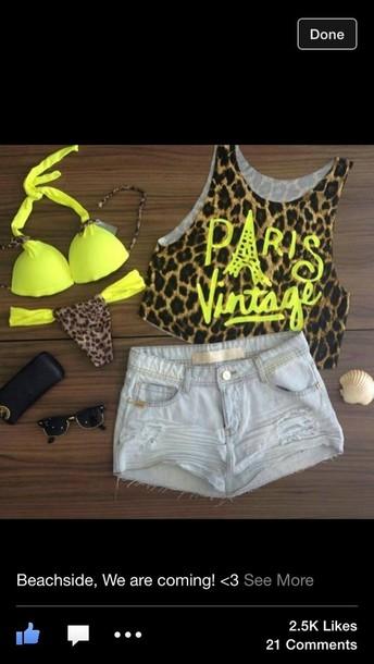 swimwear shirt shorts sunglasses