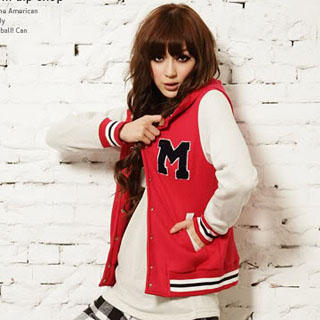 D.P-Shop- 'M' Baseball Jacket (Red - One Size) - Free ...