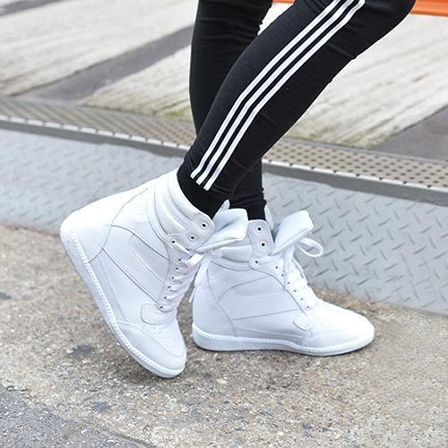 Hidden Wedge Trainers Sneakers UK3 ~ UK6