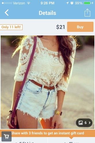 shirt lace shirt