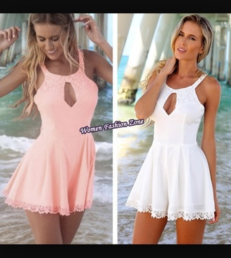 dress white dress pink dress cute dress