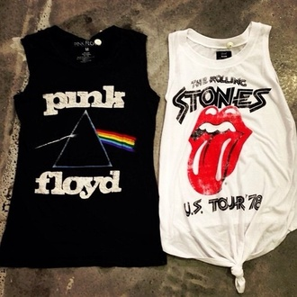 tank top the rolling stones pink floyd