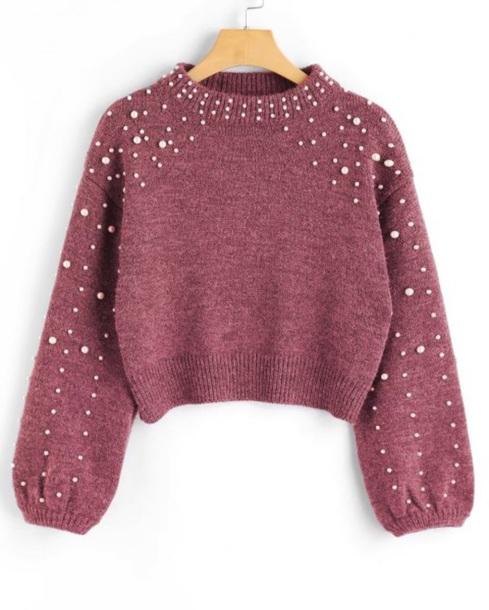 sweater girly sweatshirt jumper jewels fall sweater