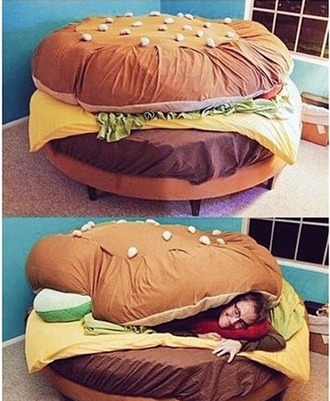 home accessory hamburger bedding room bed tumblr cute funny