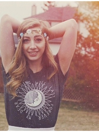shirt t-shirt muscle top sun moon stars quote on it summer night blogger celebrity boho indie chic