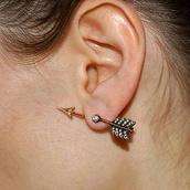 jewels,earrings,arrow,cupid's arrow earrings