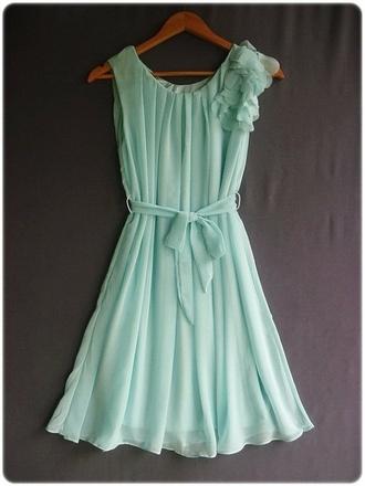 dress mint dress aqua dress