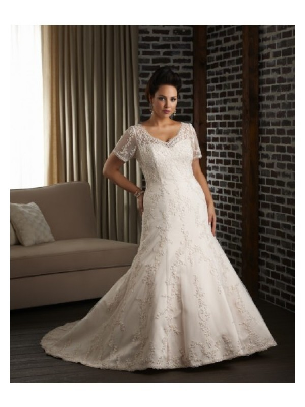cheap plus size wedding dress for women