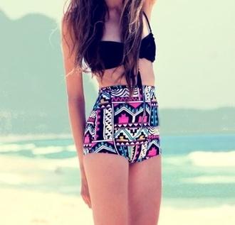 swimwear tribal pattern high waisted bikini
