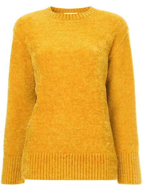 jumper women yellow orange sweater