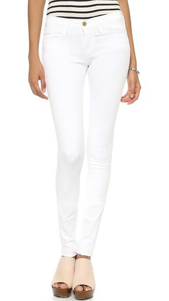 jeans skinny jeans forever blanc