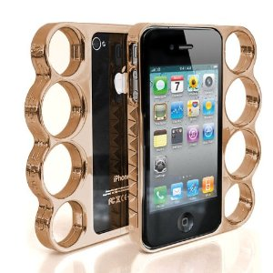 Amazon.com: studded knuckle case for iphone4 & 4s