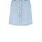 Light blue button front denim a-line skirt