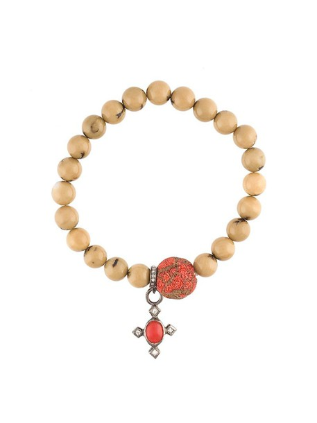 women beaded charm bracelet gold silver nude white coral jewels