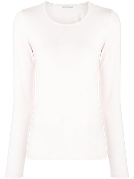 Le Tricot Perugia - crew neck jumper - women - Viscose/Elastodiene - XXL, Pink/Purple, Viscose/Elastodiene