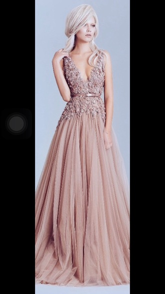 dress prom girl pink pink dress tumblr prom dress fashion prom gown pretty elegant gown wedding dress wedding clothes flowers boho dress gorgeous sexy long prom dress formal dress formal 2016 prom dresses lace prom dress dusty pink long pink prom dress