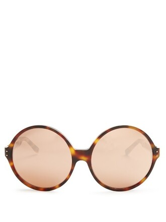oversized rose sunglasses gold